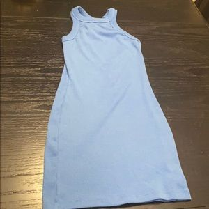 Blue halter neck Tank dress